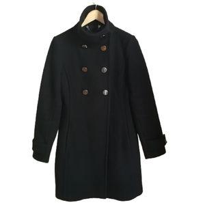 ARITZIA / BABATON Black Cashmere & Wool DOuble Breasted Peacoat Coat Sz Small